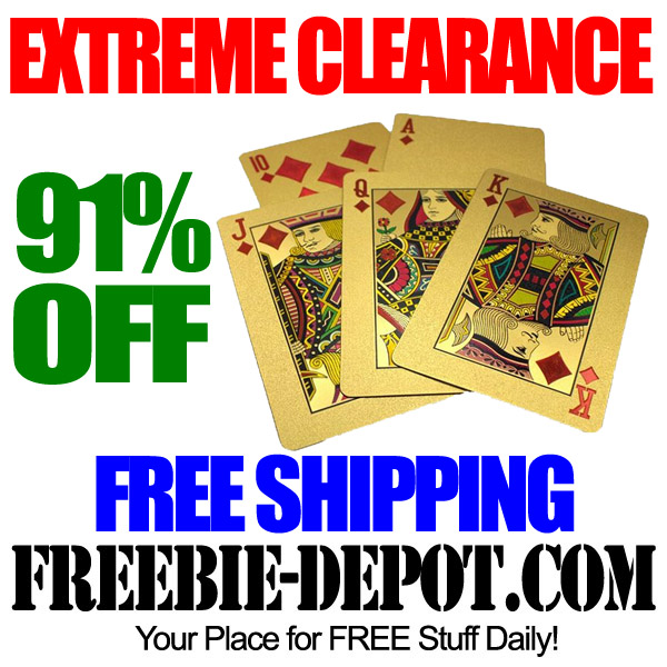 Extreme Clearance Gold Cards