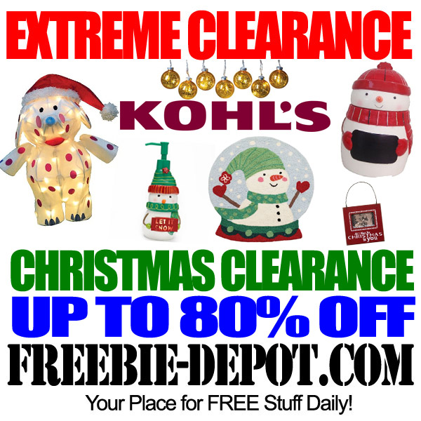 Extreme clearance 80 off or more at kohl s after for Christmas sale items