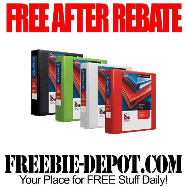 Free After Rebate Binders Staples