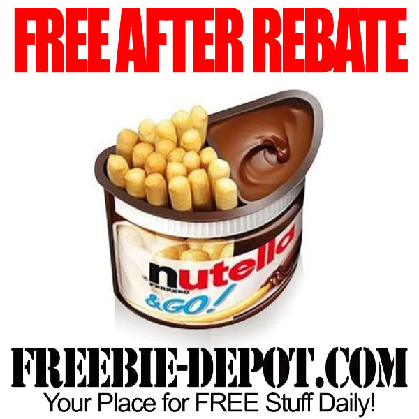 Free After Rebate Chocolate Hazelnut Spread Nutella