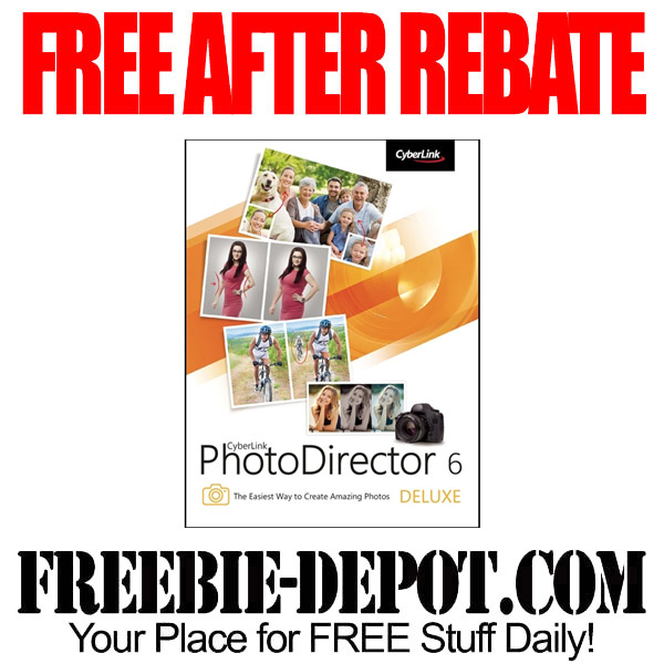 FREE AFTER REBATE – PhotoDirector 6 Software – FREE Photo Editing Computer Program from CyberLink