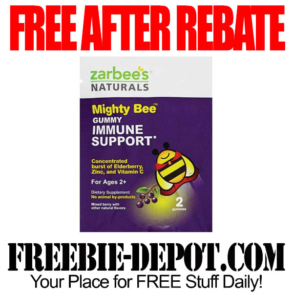 Free After Rebate Zarbees Immune Support Gummy Trial Size
