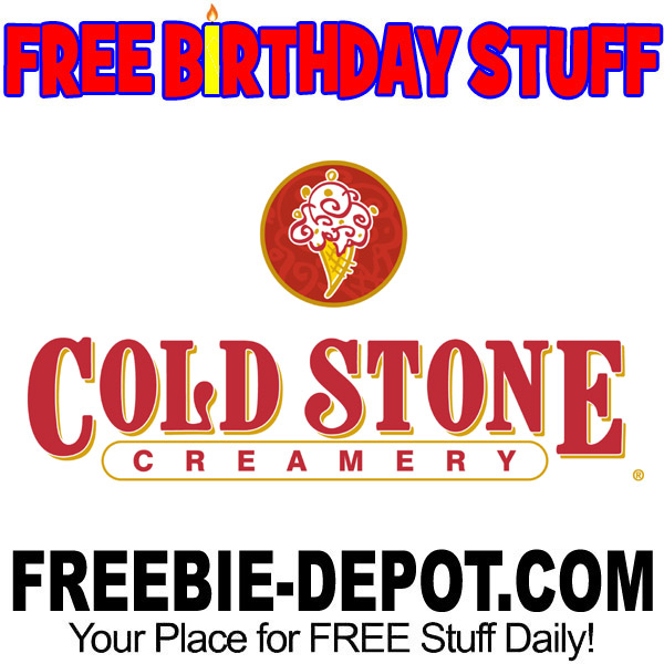 image relating to Cold Stone Printable Coupon called BIRTHDAY FREEBIE Chilly Stone Creamery Freebie Depot