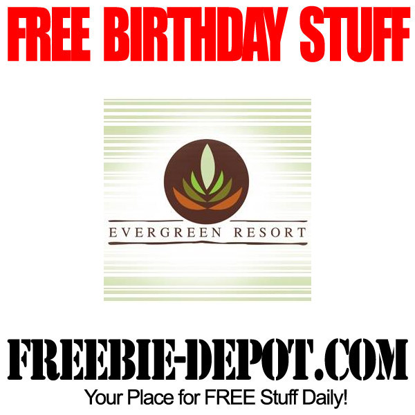 Free Birthday Evergreen Resort in Michigan
