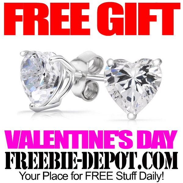 FREE Swarovski Crystal and Silver Heart Earrings – FREE Valentine's Day Gift Idea – $100 Value