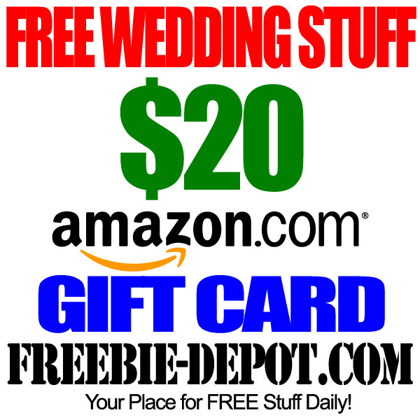 Free wedding stuff free amazon gift card w registry for for Home depot wedding gift registry