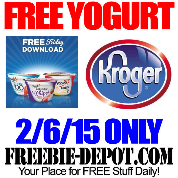 Free Yogurt Yoplait at Kroger