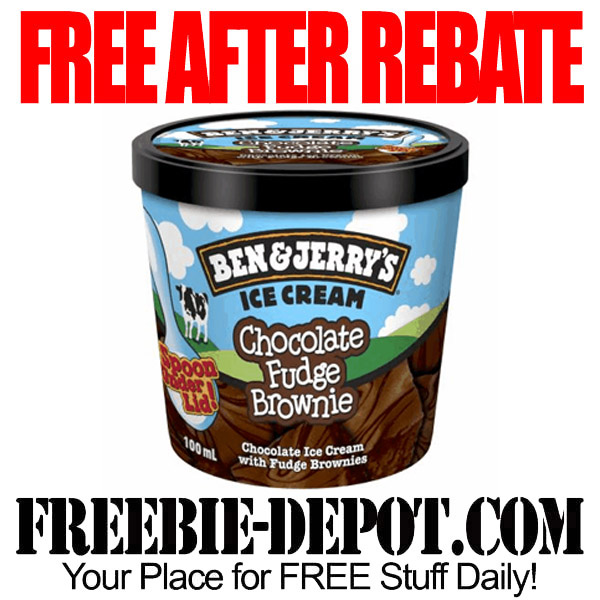Free After Rebate Ice Cream Ben & Jerry's