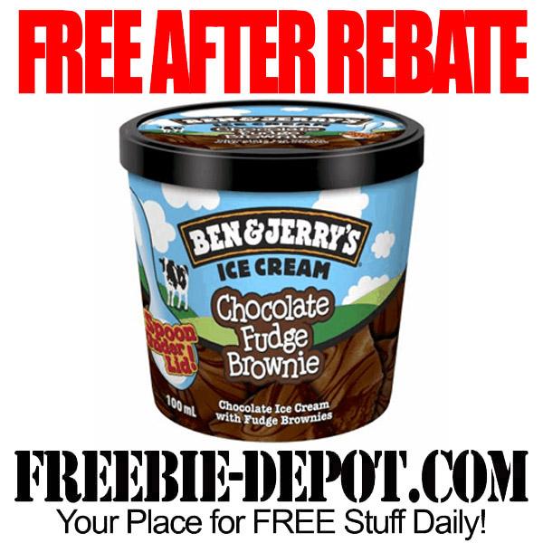 Free After Rebate Ice Cream Ben & Jerry's
