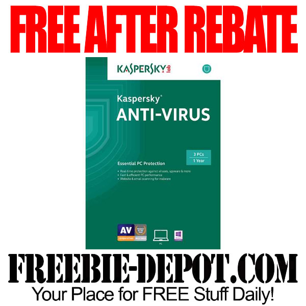 Free After Rebate Kaspersky Anti Virus - FREEbate