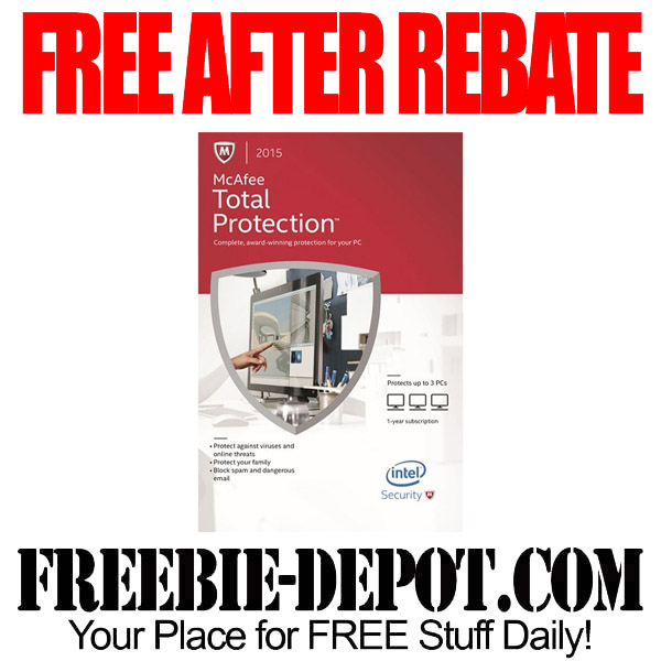 Free After Rebate McAfee Software