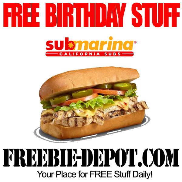 Free Birthday Submarina Combo