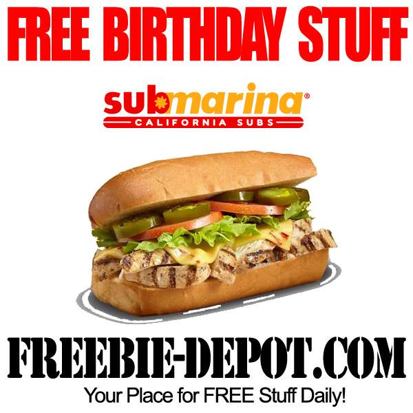 Free Birthday Submarina Combo