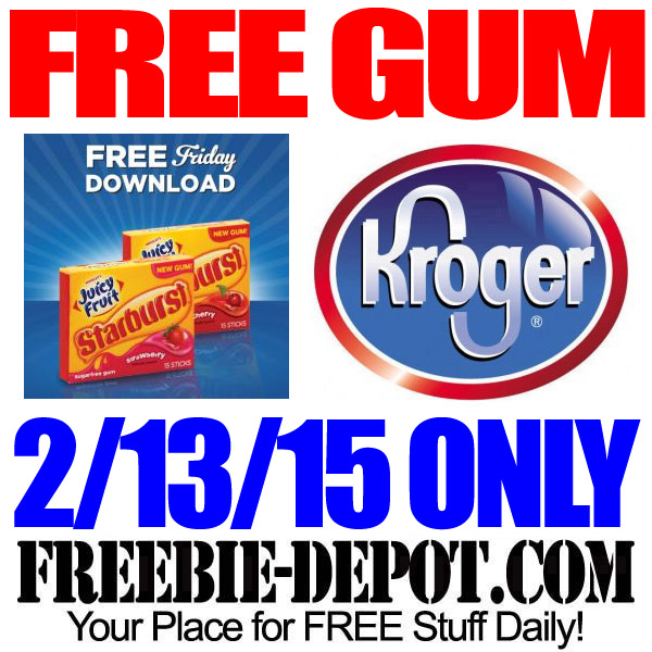 Free Pack of Gum at Kroger