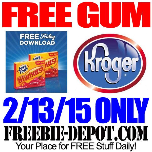 Free Pack of Gum at Kroger