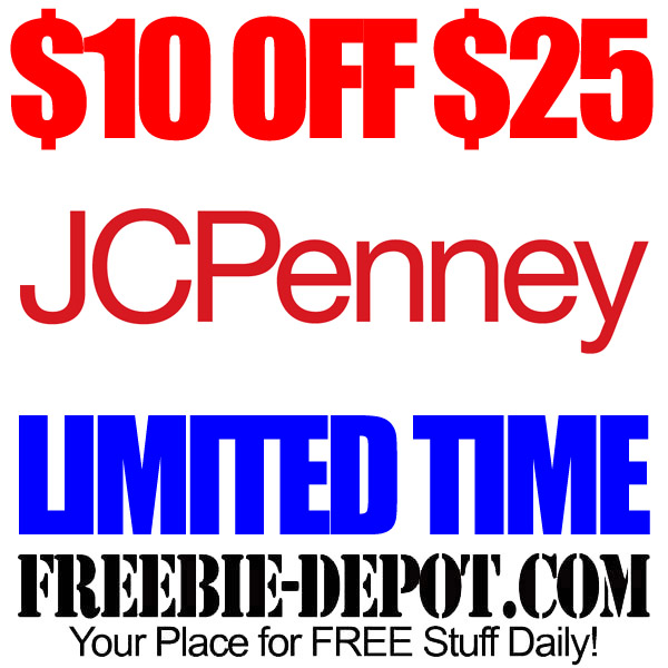 FREE JCPenney Rebate $10 OFF $25 – LIMITED TIME OFFER with