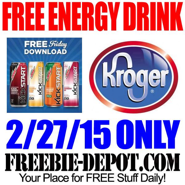 FREE Mountain Dew Kickstart Energy Drink from Kroger – Freebie Friday Download – FREE Digital Coupon