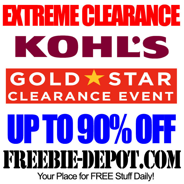 Extreme Clearance Kohls Gold Star