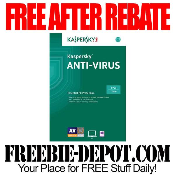 Free After Rebate Kaspersky Software