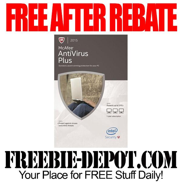 Free After Rebate McAfee Antivirus