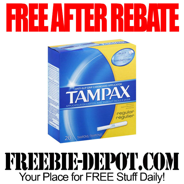 Free After Rebate Tampax at Kmart