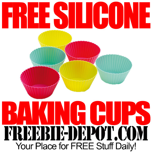 Free Silicone Baking Cups for Cupcakes and Muffins