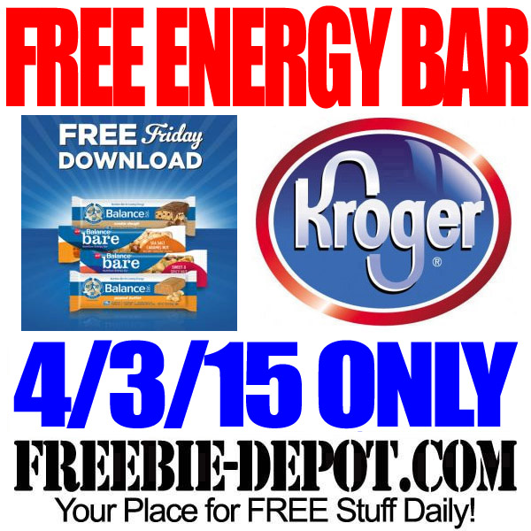Free Balance Energy Bar Kroger with Digital Coupon