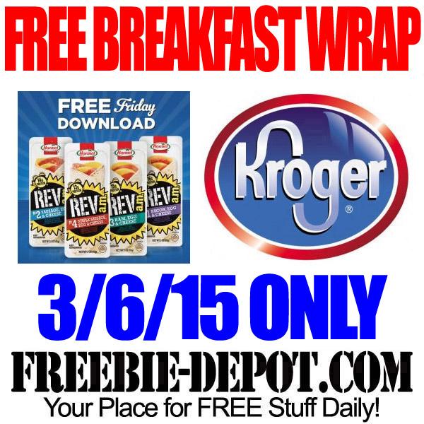 Freebie Friday Breakfast Wrap Kroger