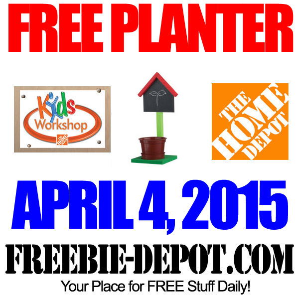 Free Chalkboard Planter At Home Depot Free Kid Workshop Free