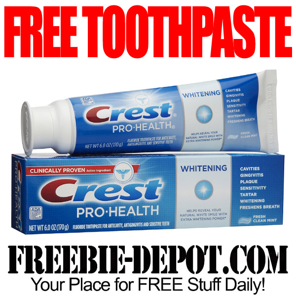 Free Toothpaste Crest