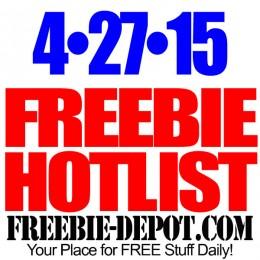 FREEBIE HOTLIST – FREE Stuff for April 27, 2015