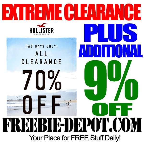 Extreme Clearance at Hollister