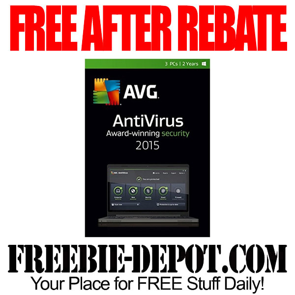 Free After Rebate AVG 2015 Antivirus Security Software