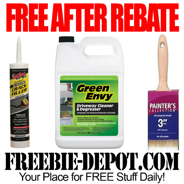 Free After Rebate Driveway Cleaner and Sealer, Paintbrushes