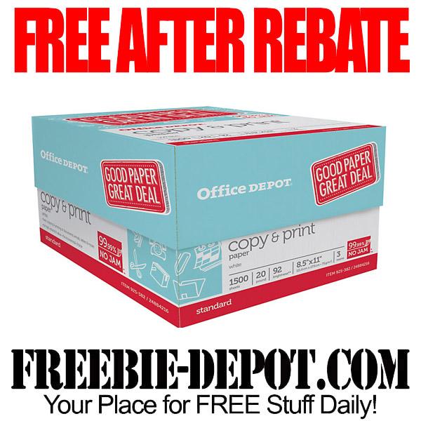 FREE AFTER REBATE – Copy & Print Paper – Case Of 3 Reams – LIMIT 2 – Exp 5/2/15
