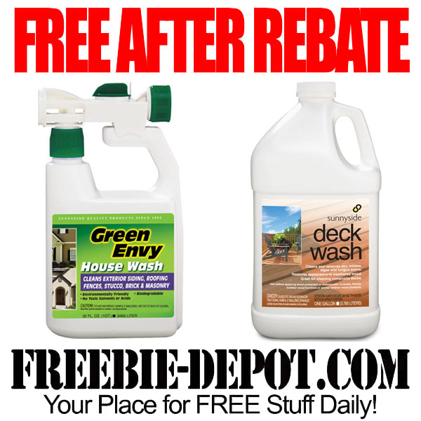 Free After Rebate Outdoor Cleaning Chemicals