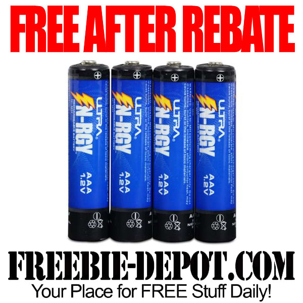 Free After Rebate 4 pack Rechargeable Batteries