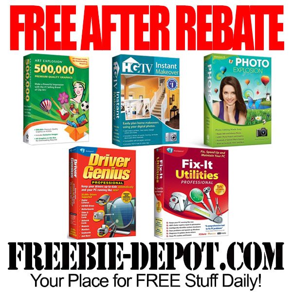FREE AFTER REBATE – 5 Software Programs from Fry's Electronics – FREE Shipping – $110 Value – Exp 5/2/15