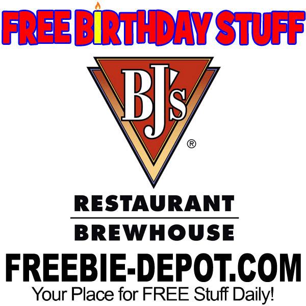 FREE BIRTHDAY STUFF – BJ's Restaurant & Brewhouse