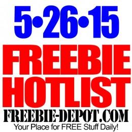 NEW FREEBIE HOTLIST – FREE Stuff for May 26, 2015