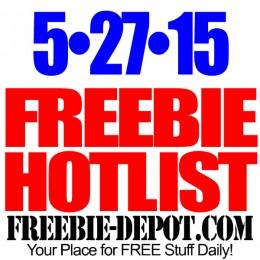 NEW FREEBIE HOTLIST – FREE Stuff for May 27, 2015