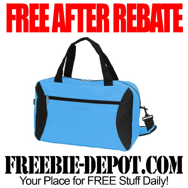 Free After Rebate Blue Duffel Bag