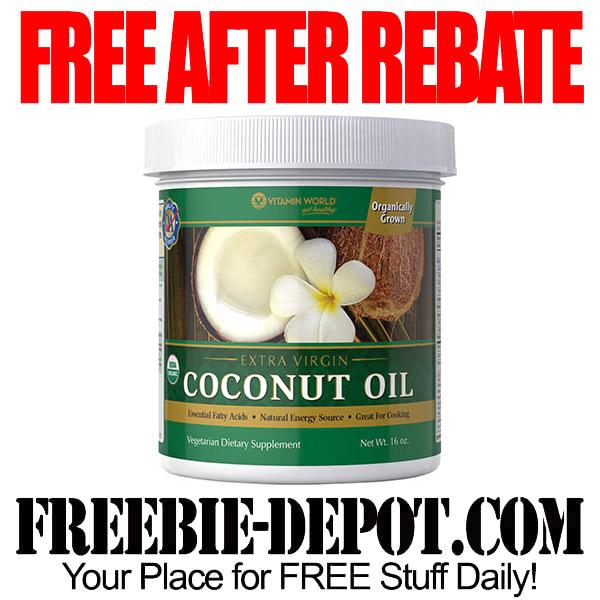 Free After Rebate Coconut Oil Extra Virgin