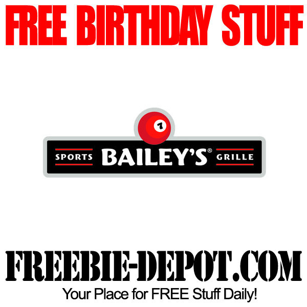 Free Birthday Meal at Baileys Sports Grille