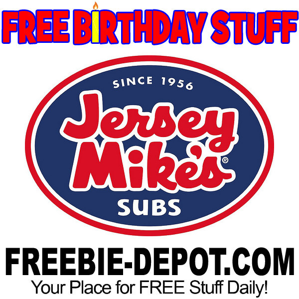 photograph regarding Jersey Mike's Printable Coupon identify Totally free BIRTHDAY Things Jersey Mikes Subs Freebie Depot