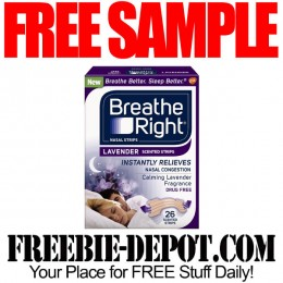 FREE SAMPLE – Breathe Right Nasal Strips – Lavender or Extra Clear – FREE Nasal Congestion Relief Sample