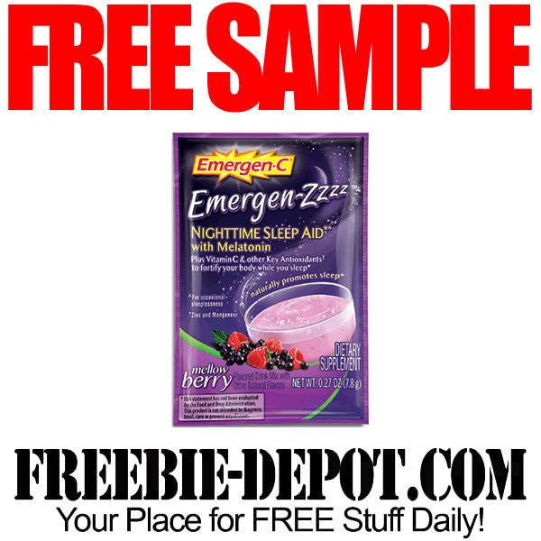 Free Sample  EmergenZzzz Nighttime Sleep Aid With Melatonin