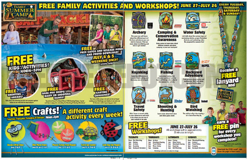 Free Bass Pro- Summer Activities