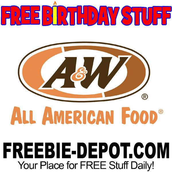 FREE BIRTHDAY STUFF – A&W All American Food