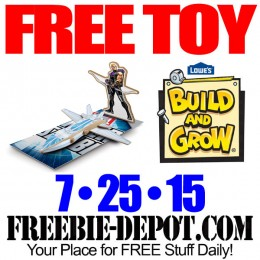FREE Avengers Hawkeye's Quinjet at Lowe's – FREE Kid Craft Workshop – FREE Build and Grow Kid's Clinic – 7/25/15